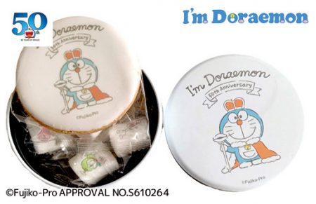 ドラえもん50th【I'm Doraemonプリントクッキー&マシュマロ  50th Anniversary丸缶A】