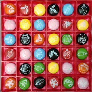 プリントチョコレートクリスマス 36個入り