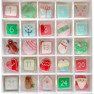 クリスマスアイシングクッキー カレンダー25個入り