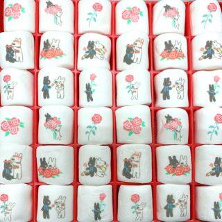 リサとガスパール プリントマシュマロ 36個入薔薇