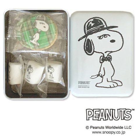 PEANUTS クッキー&マシュマロ白缶 C